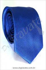 Gravata Slim Luxo Azul Royal